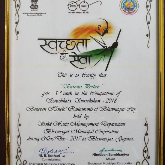 Awards , Efcee Sarovar Portico , Best Hotels in Bhavnagar  4 1 1
