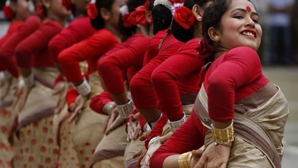 bihu assamees dance