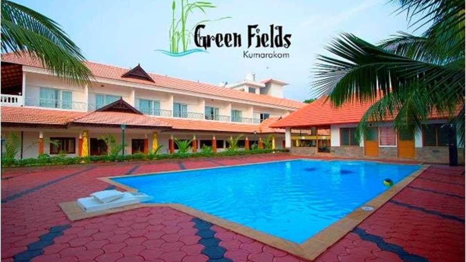 Kumarakom pool nd resort view Renai Green Fields Kumarakom Resort