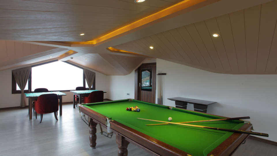 Game Room Marigold Sarovar Portico Shimla, best hotels in shimla