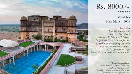 Holi Package at Neemrana Hotels Tijara Fort Palace