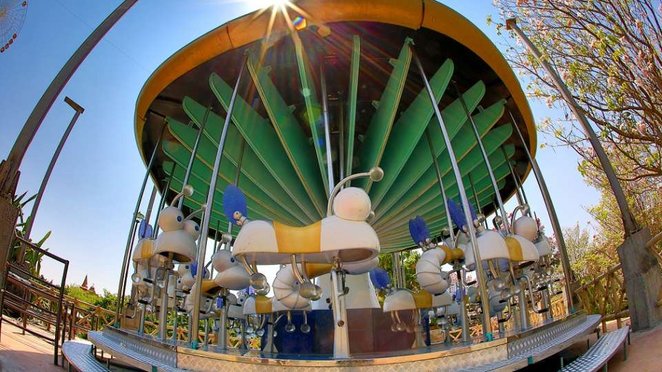 Kids Rides - Migic Mushroom at  Wonderla Amusement Park Bangalore
