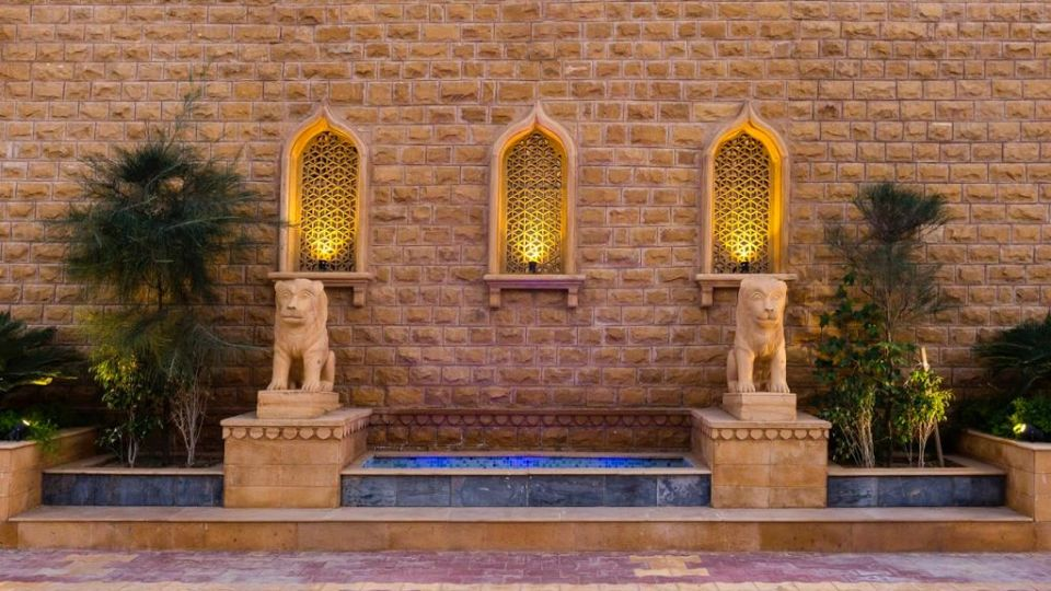Entrance Courtyard at Sairafort Sarovar Portico Jaisalmer 2 Hotel Palace in Jaisalmer