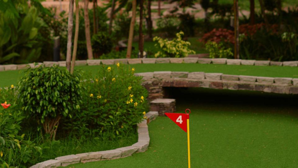 golf course at Ananta Udaipur resort