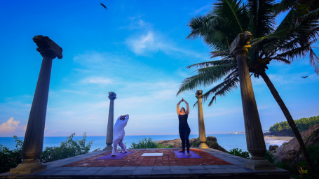 Equipment 6 Yoga 1 Niraamaya Retreats Surya Samudra Resorts Kovalam