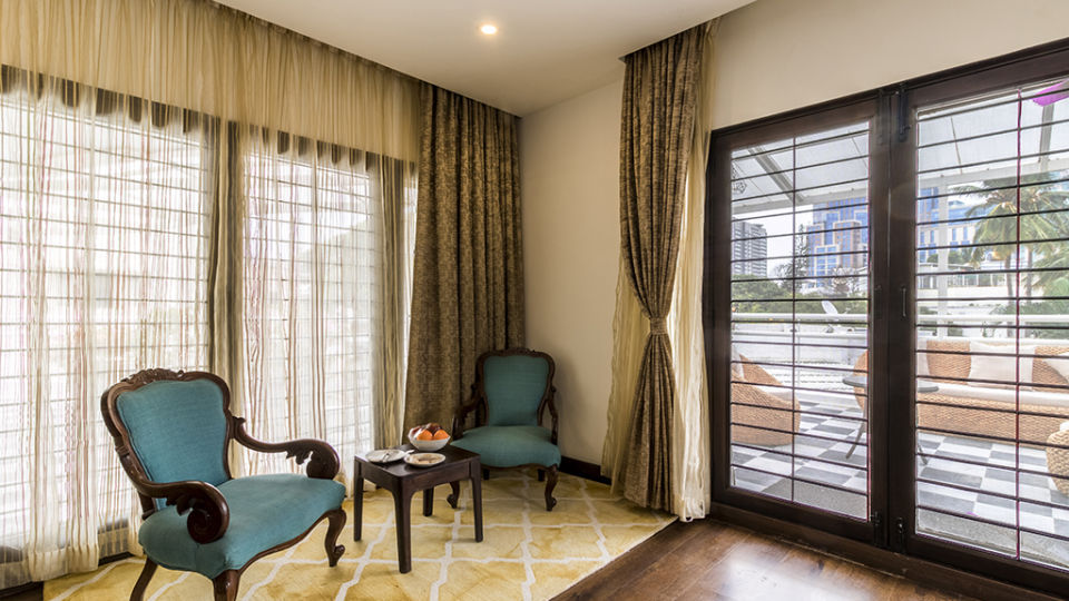 Rooms at The Bougain Villa Hotel in Bangalore near to MG Road 1