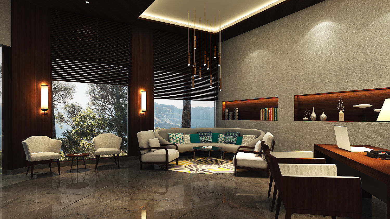 Reception area at Rosefinch Sarovar Portico, Best Resorts in Bhimtal