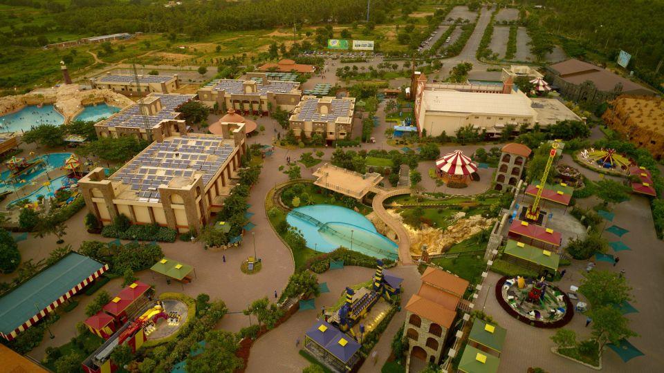 Panoramic View of Wonderla Amusement Park Bengaluru