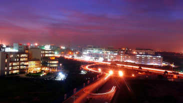 View of outer ring road, RBD Sarovar Portico Bangalore, best hotels in bangalore