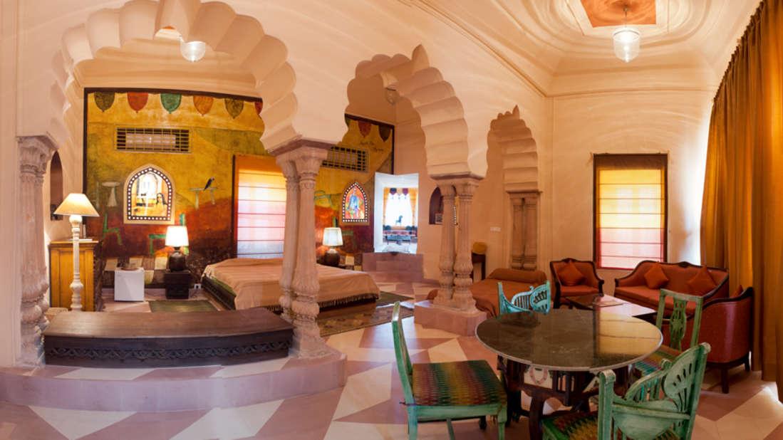 The Anjolie Mahal_Tijara Fort Palace_ Hotel Rooms in Rajasthan_ Rooms Near Jaipur