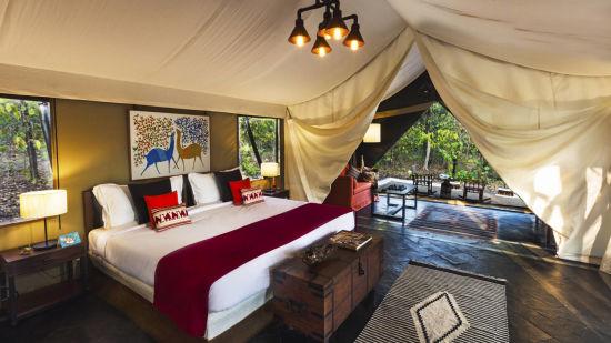 luxury tent-Reni Pani Jungle Lodge-satpura National park and reserve 4 ohu8bh