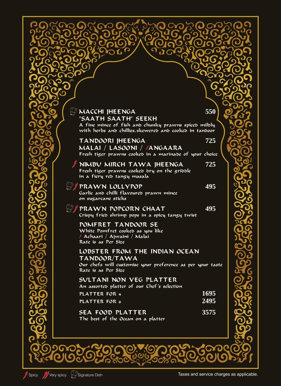 SOS ala carte menu exjjw2-09
