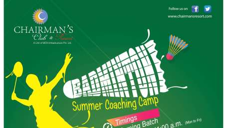 chairmans badminton offer, resort in north bangalore, chairmans club & resort 1