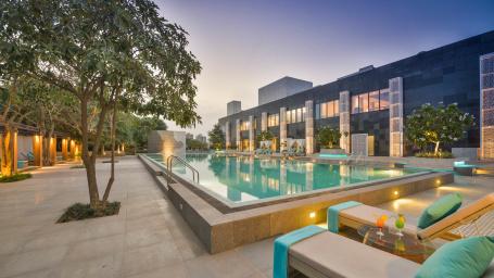 Karma Lakelands Swimming Pool in Gurgaon Resorts with Swimming Pool in Gurgaon Pool Villas in Gurgaon 1