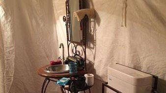 Swiss Tents - bathroom