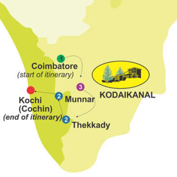 Nature Trek for 9 days, The Carlton Hotel , 5 Star hotels in Kodaikanal