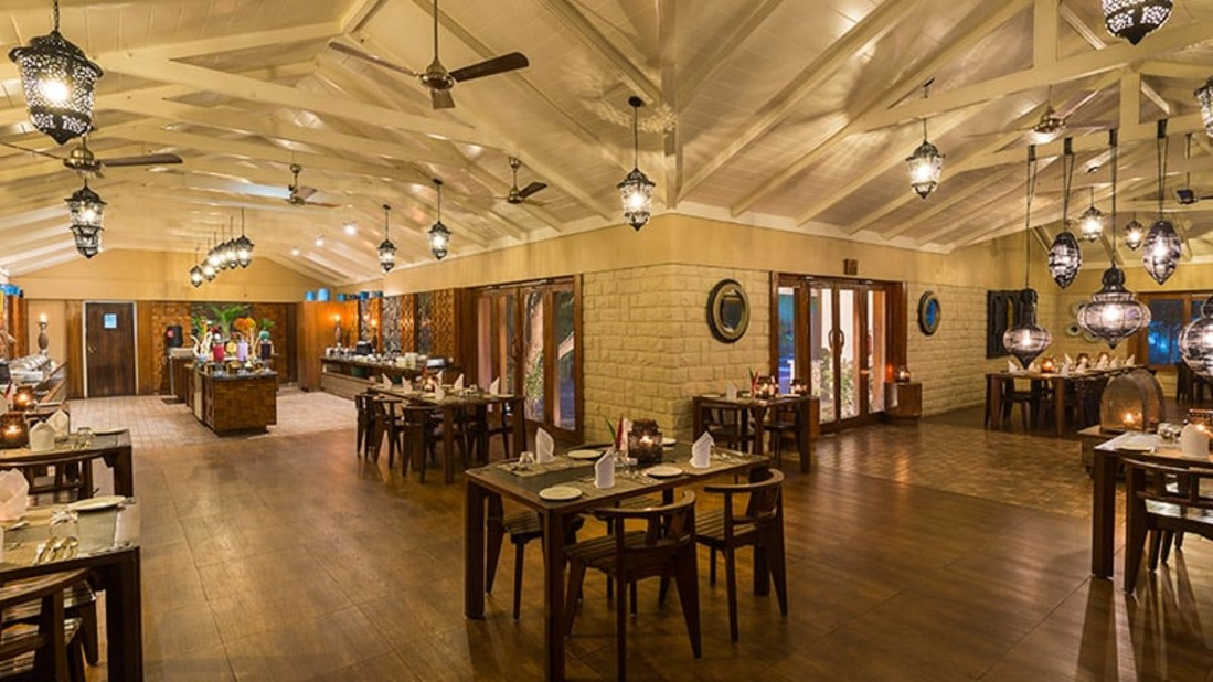 Wildgrass restaurant at The Serai Kabini, Riverside Resort in Kabini, Kabini Resorts