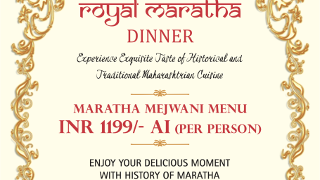 ROYAL Maratha Dinner Brochure A5 1