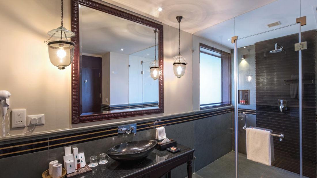 65 Bathroom of Private Pool Villa, Niraamaya Retreat Backwater and Beyond, Kumarakom resort