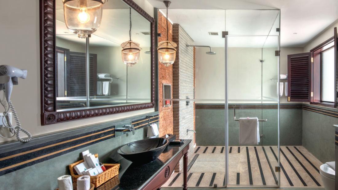 66 Bathroom of Superior Villa, Niraamaya Retreat Backwater and Beyond Kumarakom, Resort in Kumarakom 1