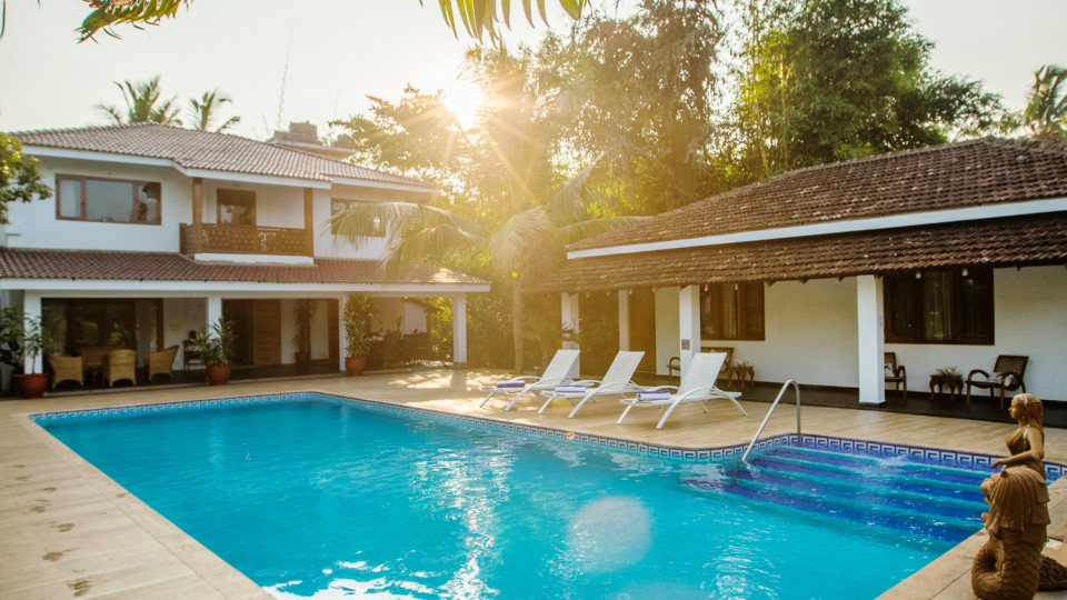 Pool, Hamsa Villas Goa, Best Resort In Goa