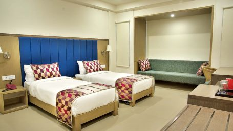 Interconnecting Family Room at Purple Cloud Hotel - The Smart Bangalore Airport City Hotel 4