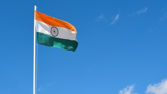 Indian Flag in the sky