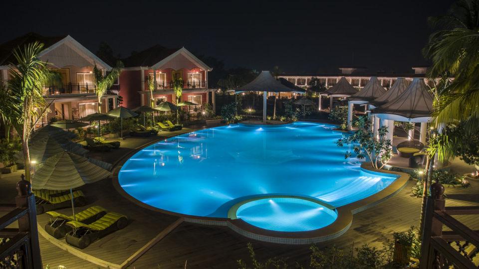 Night View Swimming Pool