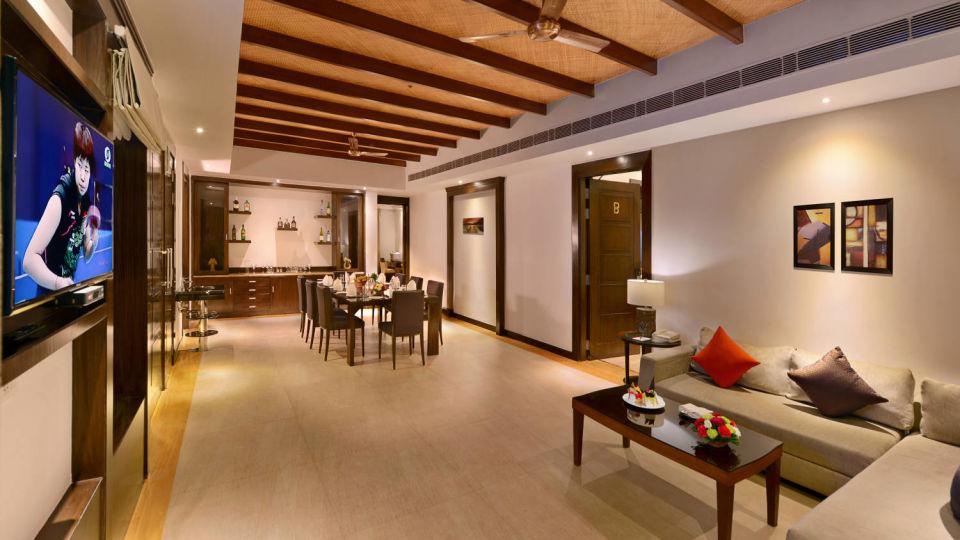 Presidential suite living area at ananta udaipur suites in Udaipur q3aqe3