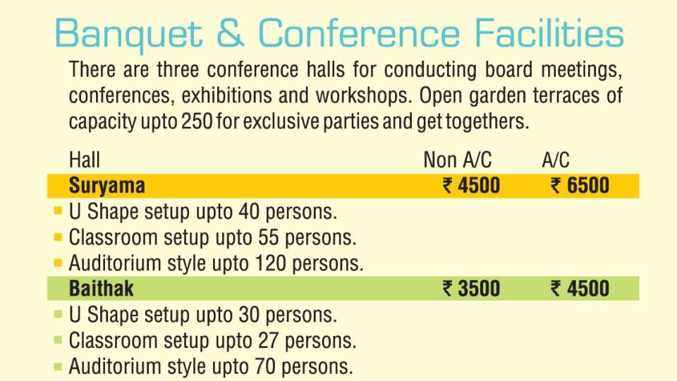 Hotel Raviraj, Pune Pune banquet-conference-hall rates 2017-18