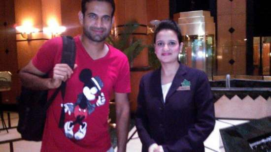 Irfan Pathan at The Orchid Hotel Mumbai