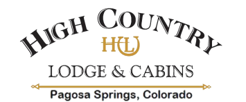 High Country Lodge & Cabins, Pagosa Springs, Colorado Pagosa Springs HCL logo bigger text