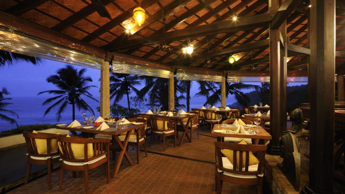 Restaurant at Niraamaya Retreats Surya Samudra, Kovalam Beach Resort 4