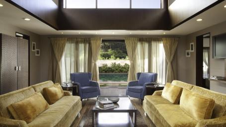 The Residence Living Room, The Serai Chikmagalur, Stay in Chikmagalur, Luxury Resorts in Chikmagalur 1