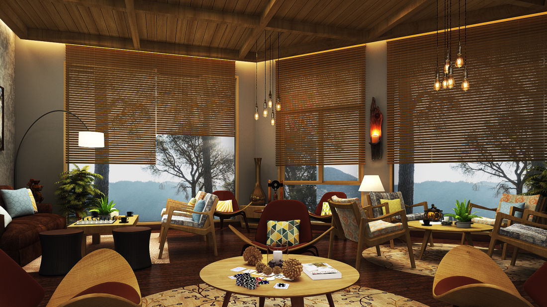 Lounge area at Rosefinch Sarovar Portico, Bhimtal, Resorts in Bhimtal