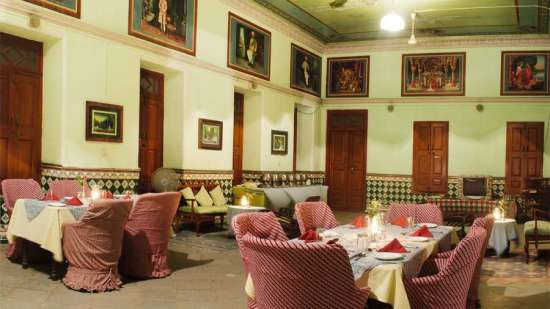The Piramal Haveli - 20th C, Shekhavati Shekhavati Dining The Piramal Haveli Shekhavati Rajasthan 1