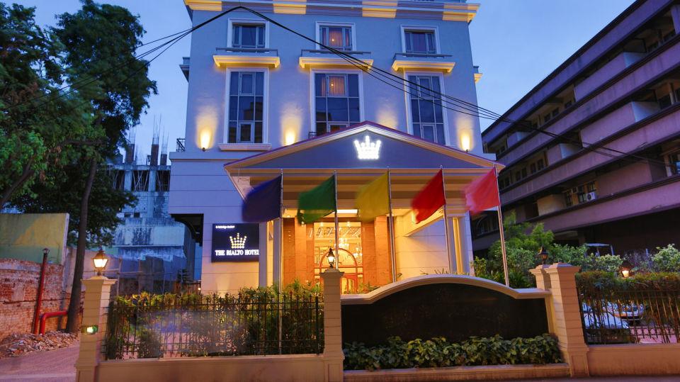The Rialto Hotel Bangalore Bangalore Facade Nightview 3 The Rialto Hotel Bangalore