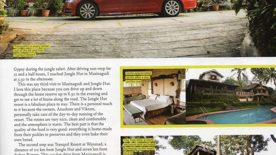 Tranquil Resort, Wayanad Wayanad Tranquil Latest Press - Car India - Page 3