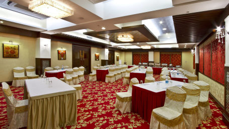 Interior of Ganga Banquet Hall in Patna at Hotel Gargee Grand