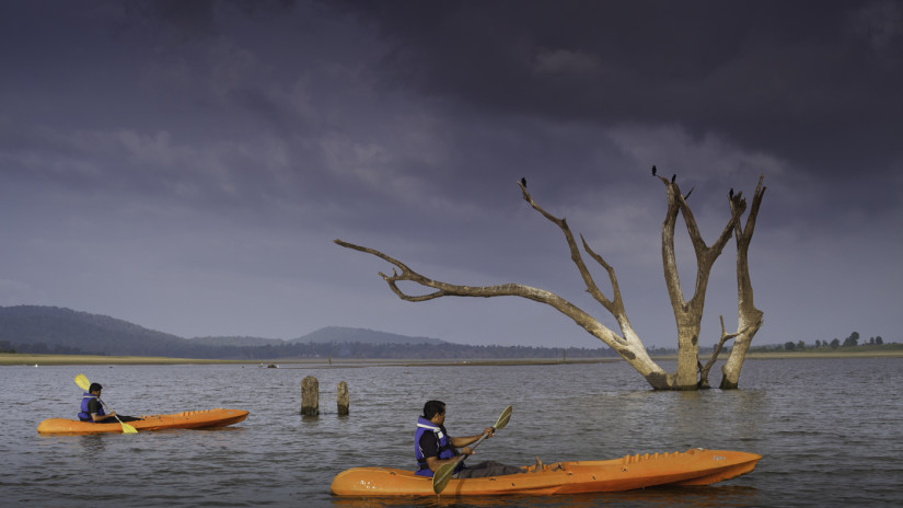 River Rafting at Kabini River,  Kabini Resort, The Serai Kabini, Best Riverside Resort