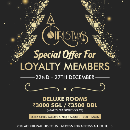 Christmas - Loyalty Offer member special end year offer at The orchid Pune