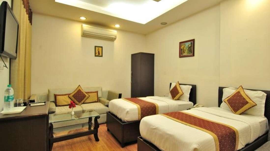 The Hermitage Hotel, New Delhi New Delhi Twin Room The Hermitage Hotel New Delhi