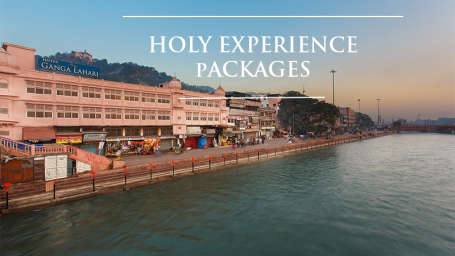Holy Experience banner, ganga lahari hotel, haridwar hotel offers