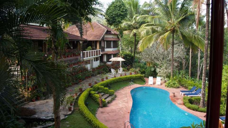 Tranquil Resort, Wayanad Wayanad k- view of pool from Tree Deck