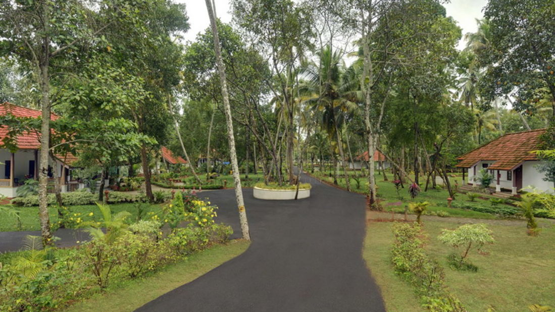 long view of cottages, Contact Beach Resort in Marari, Beach resorts in Allepey, 4 Star Resorts in Alleppey, Best Beach Resorts in Alleppey, Best Beach Resorts Near Cochin, Beach Resorts in Kerala