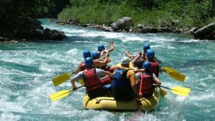 River rafting near Wild Brook Retreat, Rajaji National Park