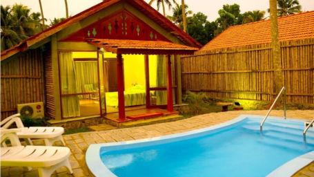 Bamboo pool villa in Abad Whispering Palms, Resort in Kumarakom