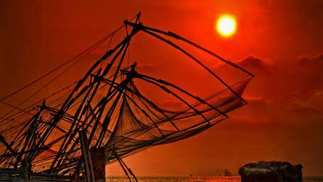 Fort Abode Apartments, Fort Kochi Cochin Chinese Fishing Nets  Cochin