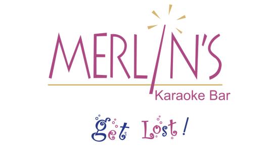 Logo of Merlins Karoke Bar at the orchid hotel mumbai vile parle - 5 star hotel near mumbai airport