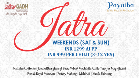 Weekend Jatra Brunch at Fort Jadhavgadh Heritage Resort Hotel Pune